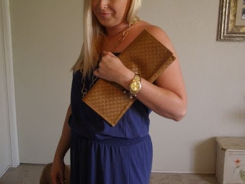 DIY - How to Make A Fast & Easy Clutch Purse