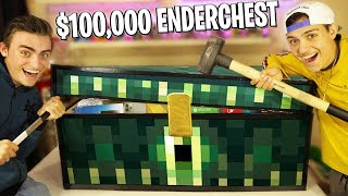 WHAT'S INSIDE THE ENDERCHEST! (UNBOXING THE $100,000 MINECRAFT ENDERCHEST!!?)