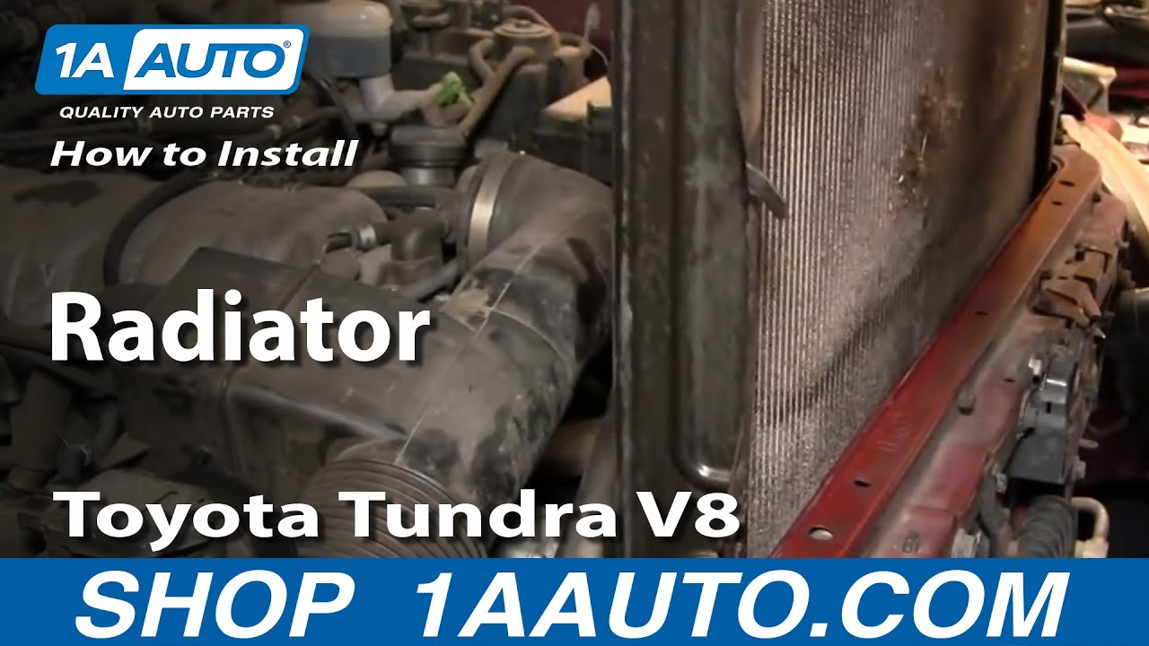 how to install replace radiator toyota tundra v8 00 05 youtube. Black Bedroom Furniture Sets. Home Design Ideas