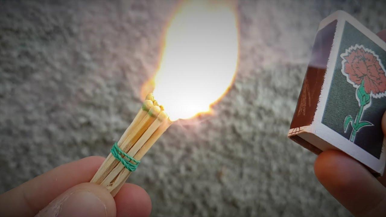 Интересные и необычные способы зажечь спичку. Как зажечь 98