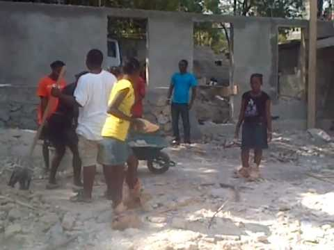 Building the Hope & Innovation Center - Haitian youth