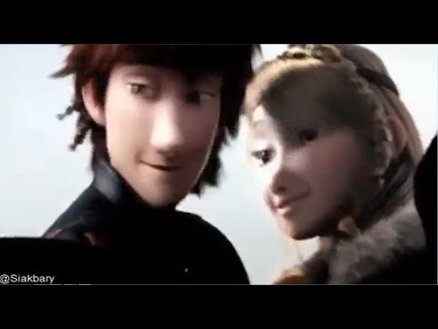 How to Train Your Dragon 2 - Hiccup And Astrid kiss!