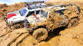 RC Cars MUD OFF Road — Land Rover Defender 110, Jeep Cherokee, Toyota FJ Cruiser, Hummer H2