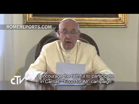 Pope Francis calls on Catholics to end world hunger by 2025