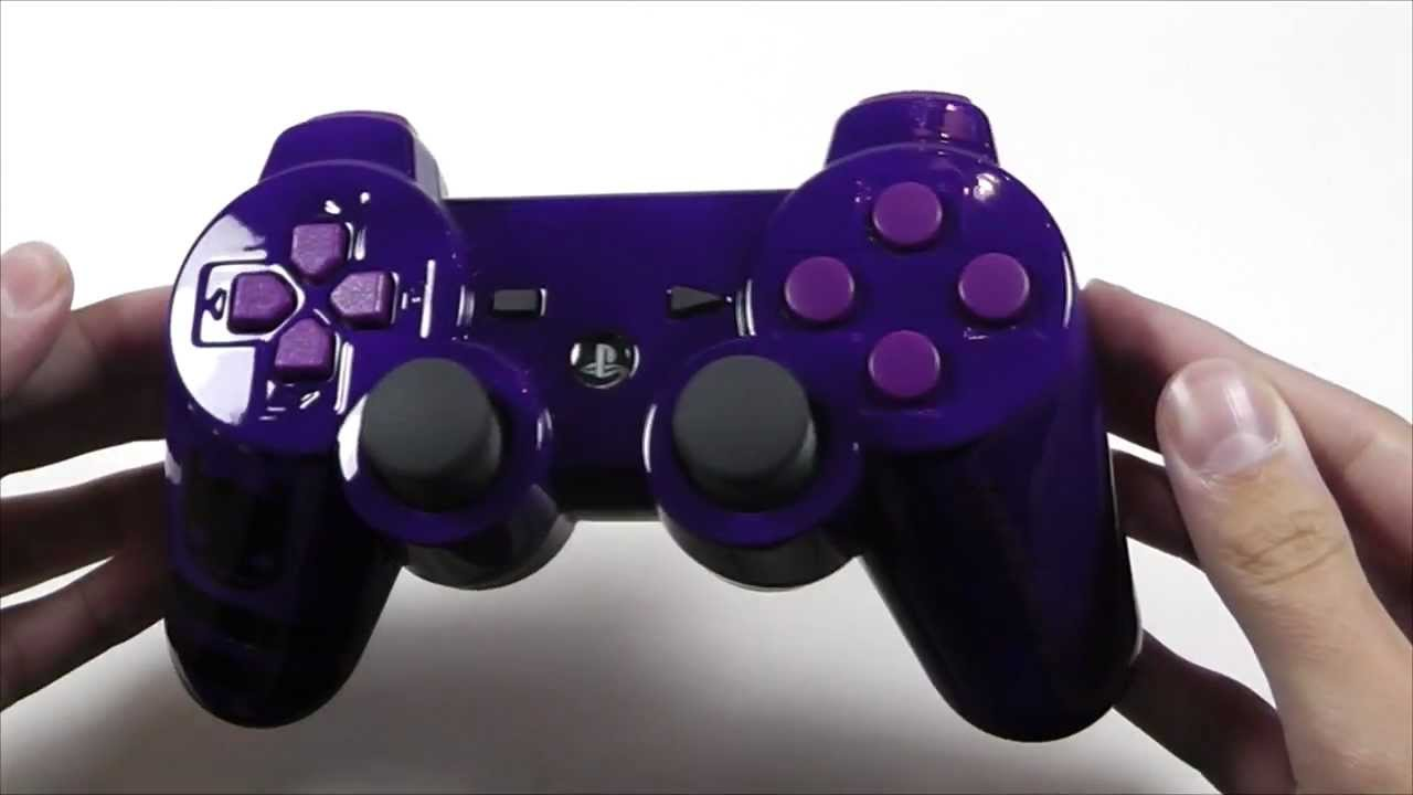 Purple Ps3 Controller Airbrushed PS3 Controller