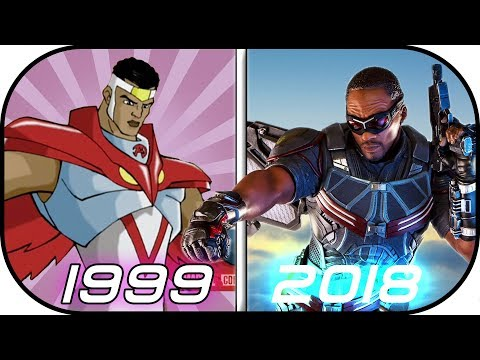 EVOLUTION of FALCON in Movies, Cartoons, TV (1999-2018) History of Falcon Avengers Infinity War