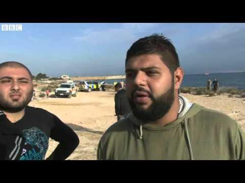 Migrant crisis  Boats land at UK base RAF Akrotiri in Cyprus