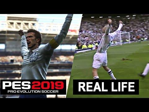 PES 2019 vs REAL LIFE [ Goals , Celebrations , Free Kick ] Ft. Beckham , Suarez , Coutinho