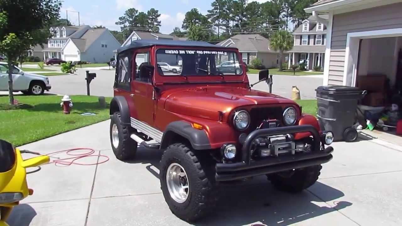 1985 Jeep Cj7 4 2 Liter Youtube