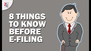 8 Things to Know before filing Income Tax Returns   Check points before e-filing