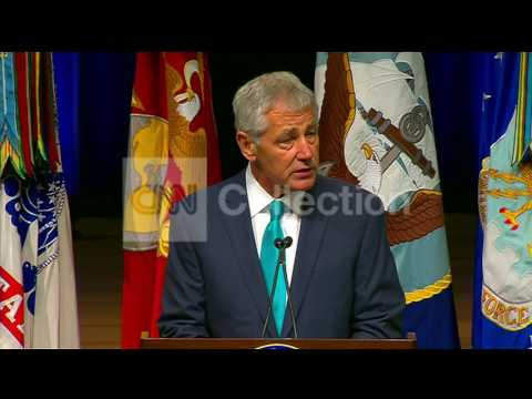 PENTAGON GAY PRIDE EVENT:HAGEL- INTEGRAL