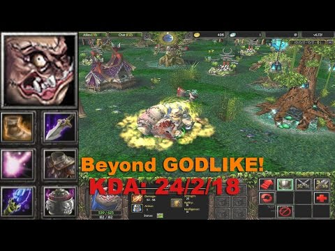 DotA Gameplay Pudge - Beyond GODLIKE!