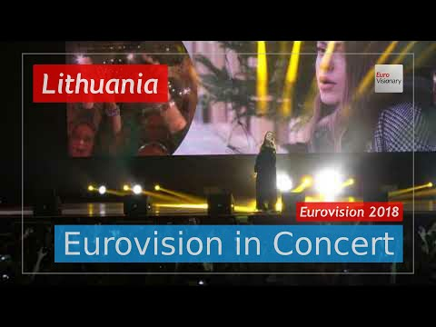 Lithuania Eurovision 2018 Live: Ieva ZasimauskaitÄ— - When We're Old - Eurovision in Concert