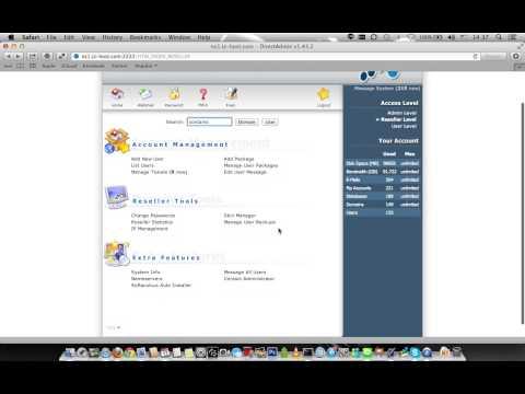 "Directadmin Tutorial แนะนำ Reseller Level Overview ภาพรวมตัวแทนจำหน่าย ""โฮสติ้ง"" โดย Host4.PRO"