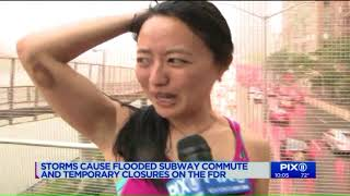Storms caused flooded subway commute, temporary closures on FDR