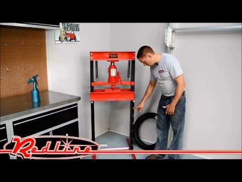Redline Engineering Hydraulic 20 Ton Shop Press