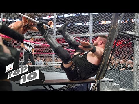 Wildest moments inside Hell in a Cell - WWE Top 10 thumbnail