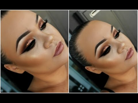 Copper Crush Glitter Eyes   Full Face Glam Makeup Tutorial   Makeupwithjah