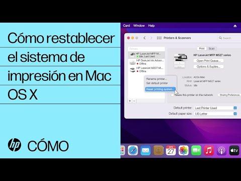 Cómo restablecer el sistema de impresión en Mac OS X | HP Computers | HP