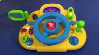 A musical steering wheel for kids