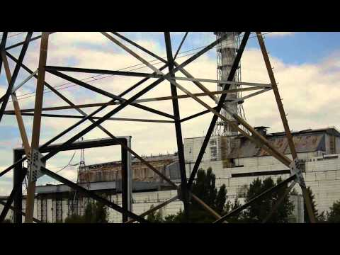 Chernobyl - Driving past the Chernobyl Nuclear Powerplant  Video
