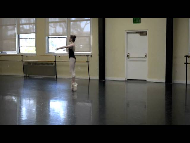 Chaine Turns Pointe Ballet Chaine Turns on