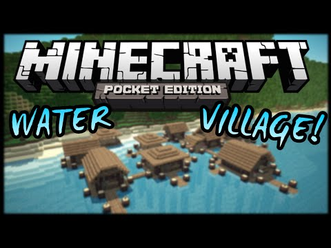 0.10.5 - WATER VILLAGE! - MINECRAFT POCKET EDITION SEED