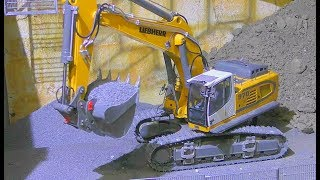 LIEBHERR 970 AND VOLVO A45G IN ACTION! FANTASTIC RC MACHINES WORK! HEAVY  VEHICLES AND COOL RC  TOYS
