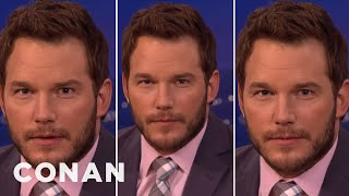 "Chris Pratt's Three Faces Of ""Jurassic World"" Acting  - CONAN on TBS"