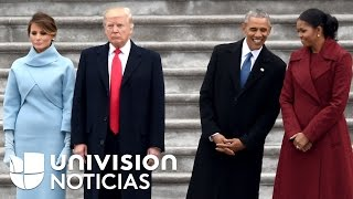 Las diferencias entre Trump y Obama en tres gestos