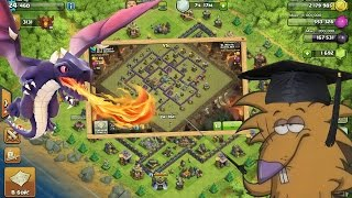 Clash of Clans ТХ8 Тактика атаки Драконами (th8 dragon attack strategy)