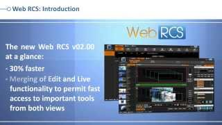 LiveCore™ series Web RCS: version 02.00 - Flat design & new features