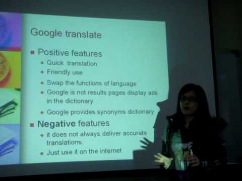 Giving an English Presentation (Connie Ku) About Google Translation