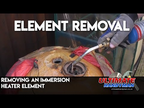 Remove an immersion heater element