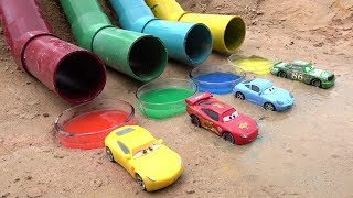 Disney Pixar Cars 3 Toys Colors Water Lightning McQueen and Friends