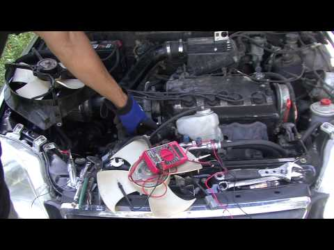 Honda How To testing your fans on your Honda and Civic Radiator fan install