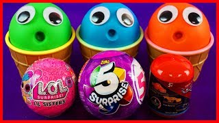 Learn Numbers Play Doh Ice Cream Cups Zuru 5, LOL Doll,Disney Cars Surprise Eggs & Toys