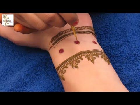 माथे पर लगाने वाली बिंदी से मेहँदी लगायें | Easy Floral Mehndi Design For Hands by Sonia Goyal #034
