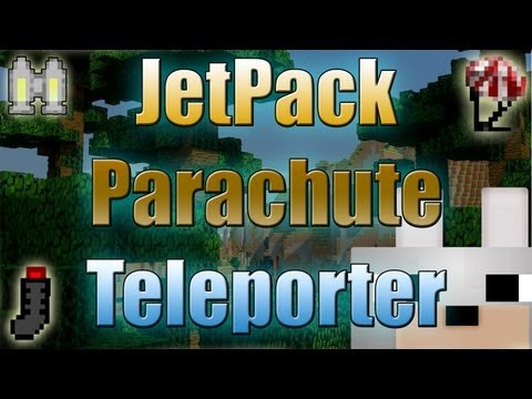 Minecraft Mods - Jetpack, Parachute, and Teleporter 1.3.1 Review and Tutorials