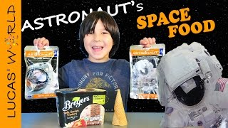EATING ICE CREAM for ASTRONAUTS | Food Challenge | TASTING NASA SPACE FOOD