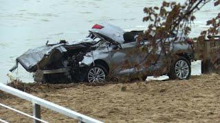 Victimes des intempéries dans le Var: la voiture sortie de l'eau