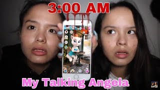 SEREM! Main Talking Angela jam 3 pagi