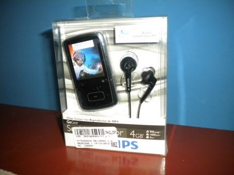 Philips GoGear Vibe MP4 unbox and review