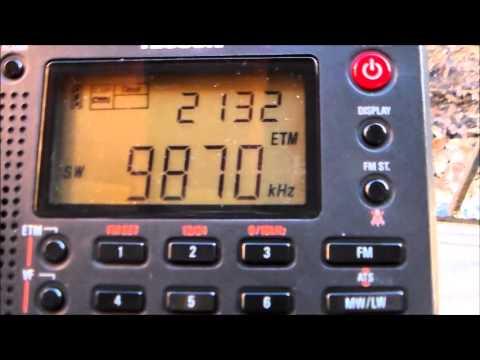 Shortwave dx from Saudi Arabia 9870 khz Radio Saudi in Arabic from Riyadh