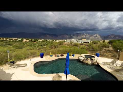 Monsoons over the Catalina Mountains in Oro Valley AZ