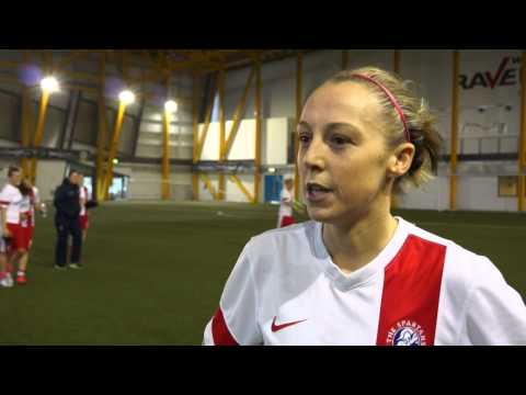 Spartans' Alana Marshall speaks after Scottish Cup Semi Final win over Aberdeen