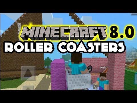 Minecraft Pocket Edition 8.0 Roller Coaster + Glitch Kids Creations iOS Gampeplay
