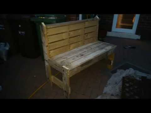 How to build your own garden bench out of pallets step by How to build a garden bench