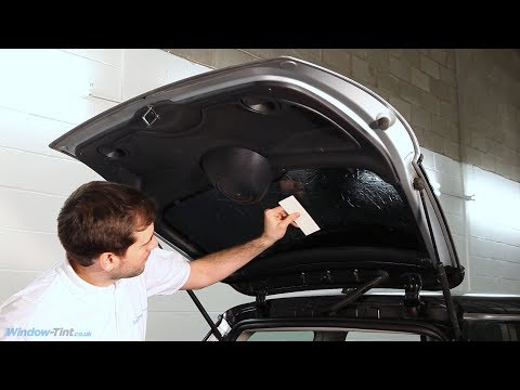 How to fit pre-cut window tint - rear windscreen tint