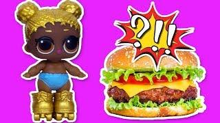 LOL Surprise Dolls & Lil Sisters Eat Fast Food | Куклы ЛОЛ и Сестрички ЛОЛ кушают Фаст Фуд